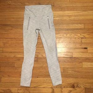 Lululemon gray striped workout pants - sz 4